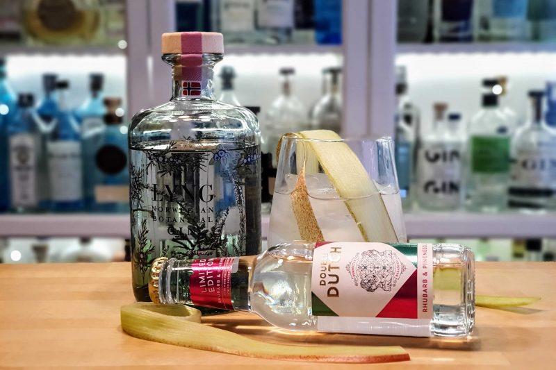 Lyng Norwegian Botanical Gin med Double Dutch Rhubarb & Pineneedle Mixer
