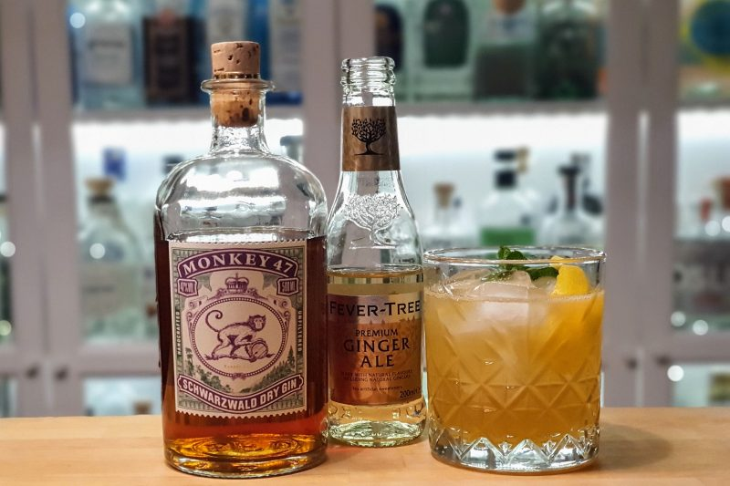 Monkey 47 Barrel Cut Gin med ingefærøl