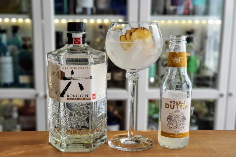 Roku Gin med Ingefærøl