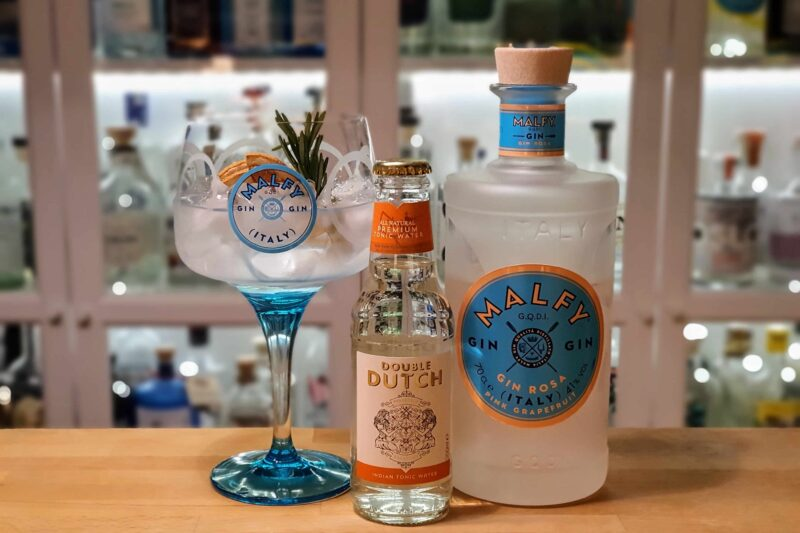 Gin Tonic med Malfy Gin Rosa