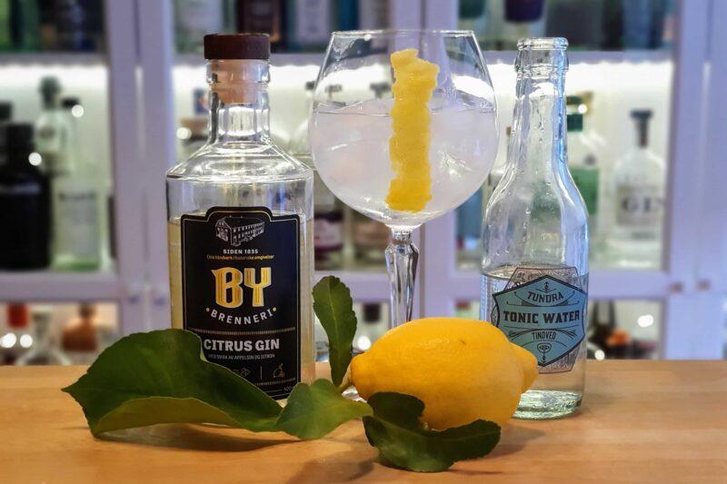 Gin og Tonic med By Brenneri Citrus Gin og Amalfi sitron