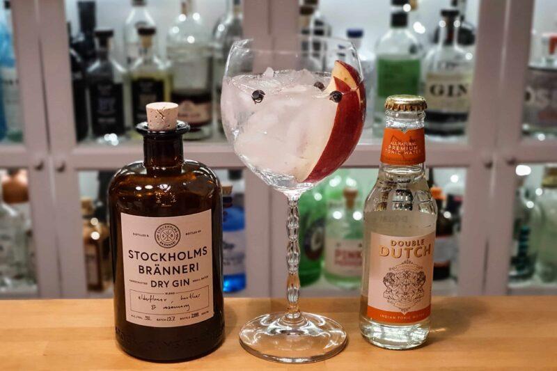 Gin og Tonic med Stockholms Bränneri Dry Gin