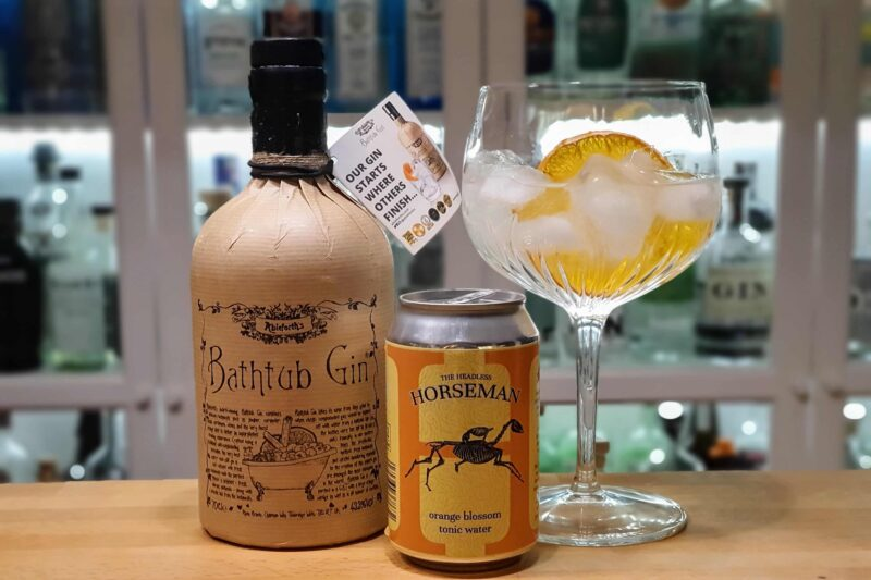 Appelsin Gin-Tonic med Bathtub Gin