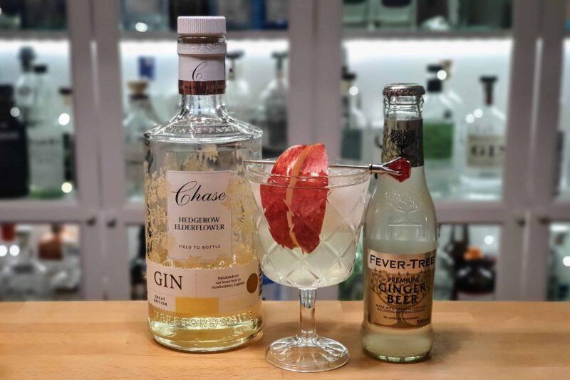 Chase Elderflover gin, eple og ingefærøl