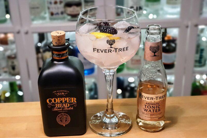 Gin Tonic med Copperhead Black Batch Gin