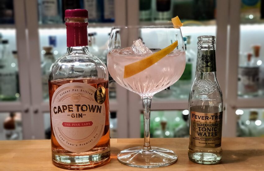 Gin og Tonic med Cape Town The Pink Lady Gin