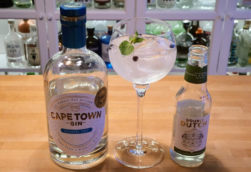 Cape Town Classic Dry Gin med Double Dutch Cucumber & Watermelon Mixer