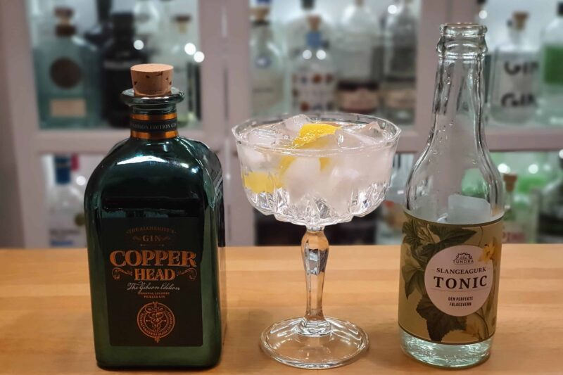 Gin Tonic med Copperhead The Gibson Edition Gin