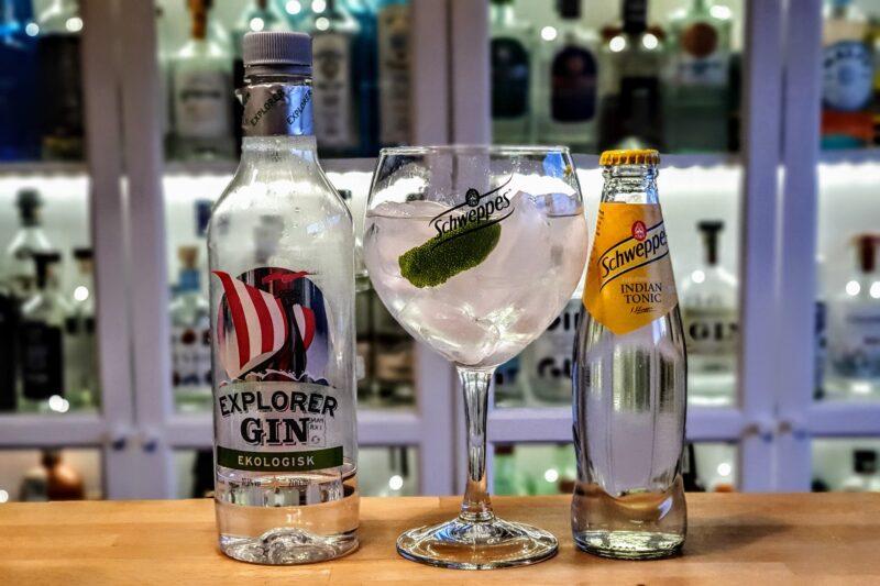 Gin og Tonic med Explorer London Dry Gin