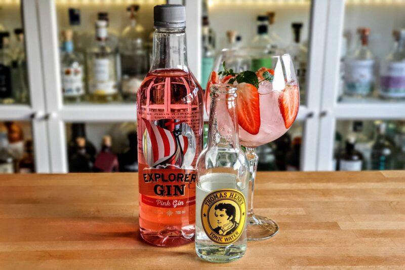 Gin og Tonic med Explorer Pink Gin