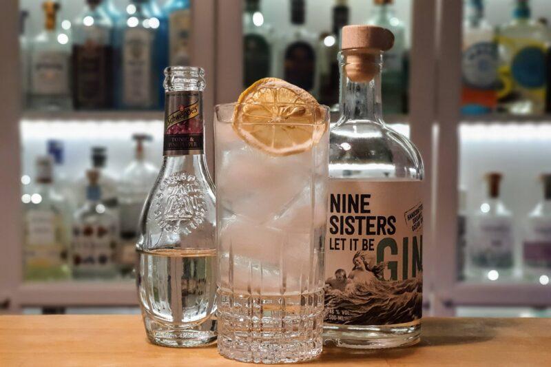 Gin og Tonic med Nine Sisters Gin