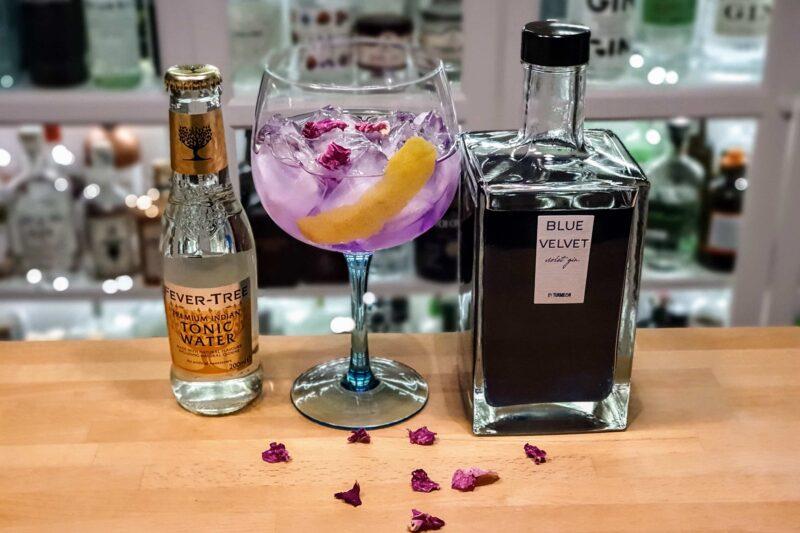 Gin-Tonic med Blue Velvet Violet Gin