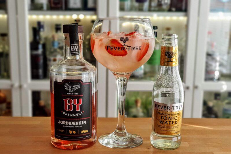 Gin-Tonic med By Brenneri Jordbærgin
