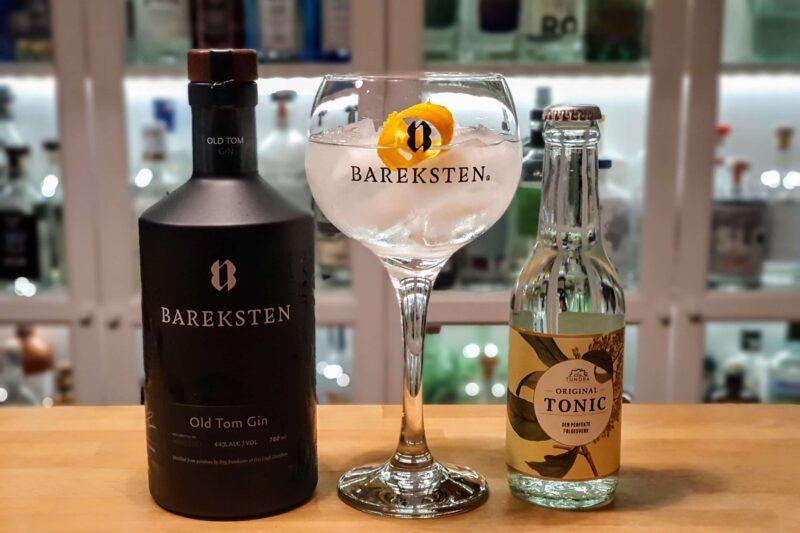 Gin og Tonic med Bareksten Old Tom Gin