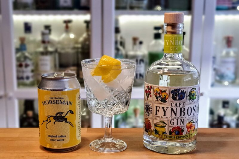 Gin og Tonic med Cape Fynbos Citrus Gin