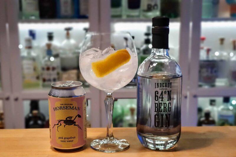 Gin og Tonic med Inderøy 64 Berg Gin