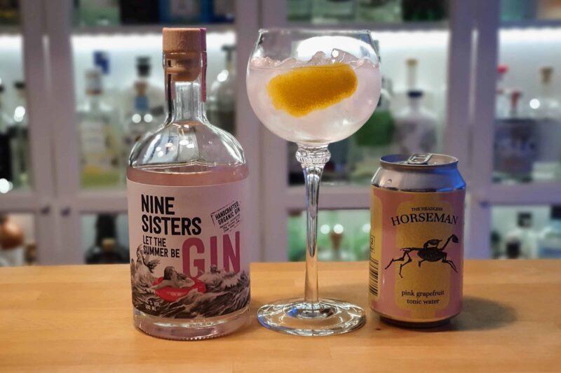 Gin og Tonic med Nine Sisters Summer Gin
