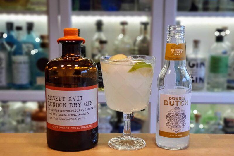 Resept XVII Gin med ingefærøl