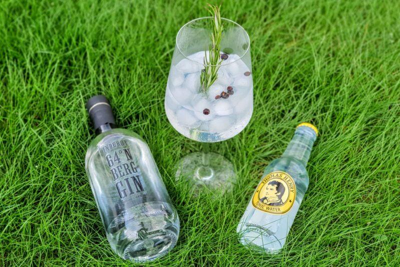 Gin Tonic med Inderøy 64°N Berg Gin