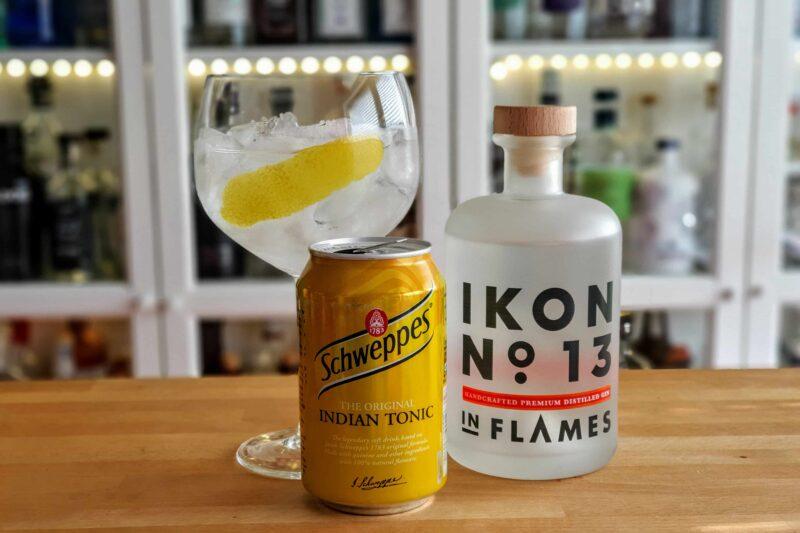 Gin og Tonic med In Flames Ikon No 13 Gin