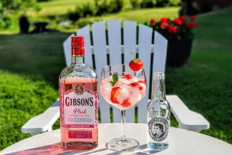 Gin Tonic med Gibson's Pink Premium Gin