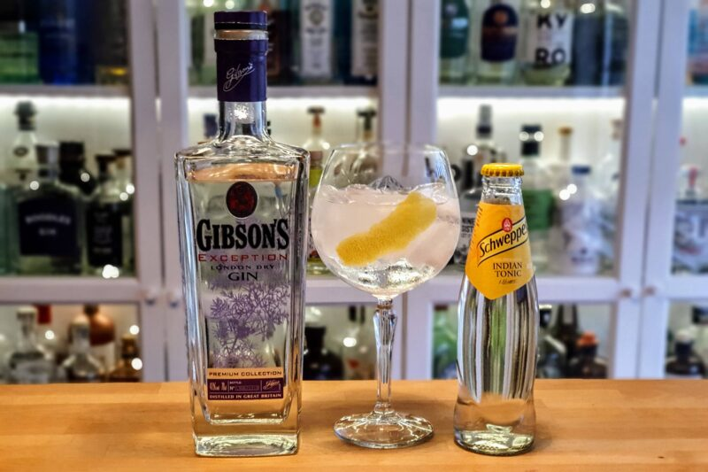 Gin og Tonic med Gibson's Exception London Dry Gin
