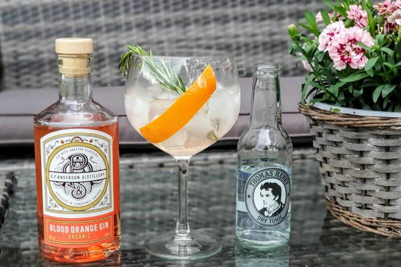 Gin og Tonic med O.P. Anderson Organic Blood Orange Gin