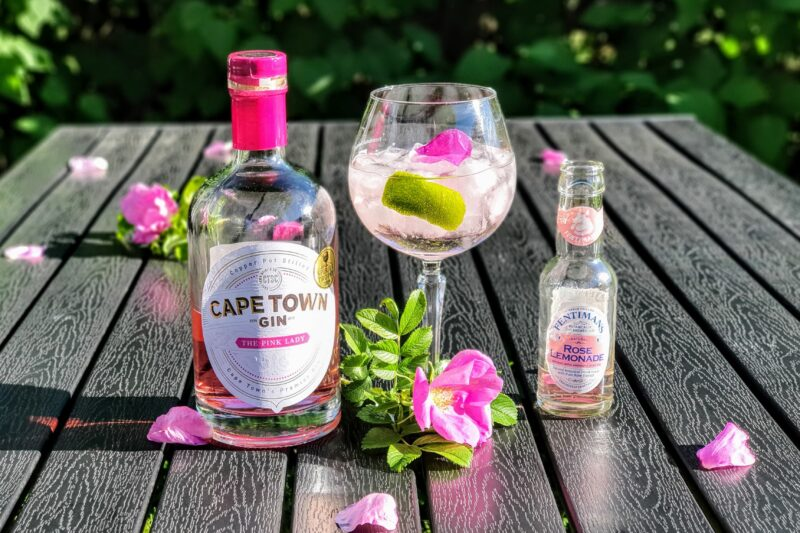 Cape Town The Pink Lady Gin med nyperose