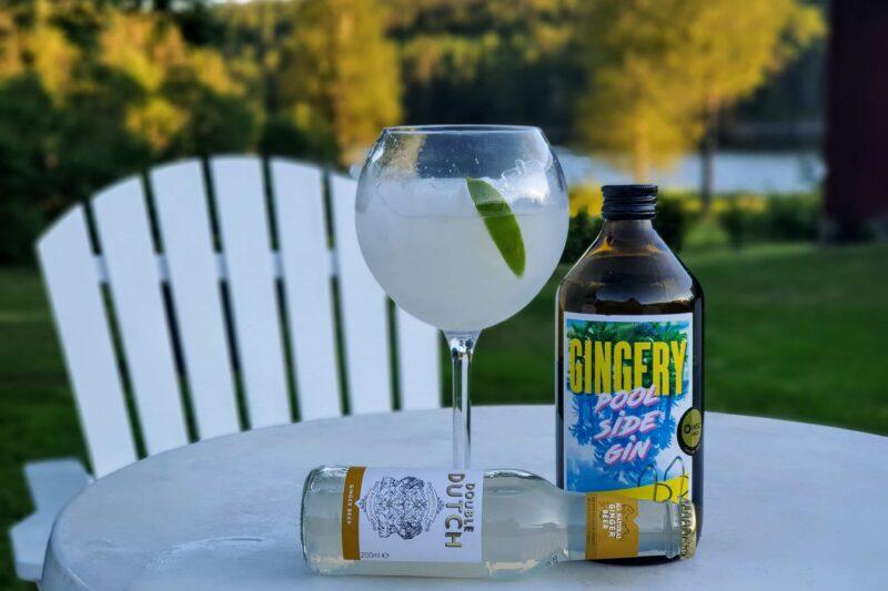 Gingery Poolside Gin med ingefærøl