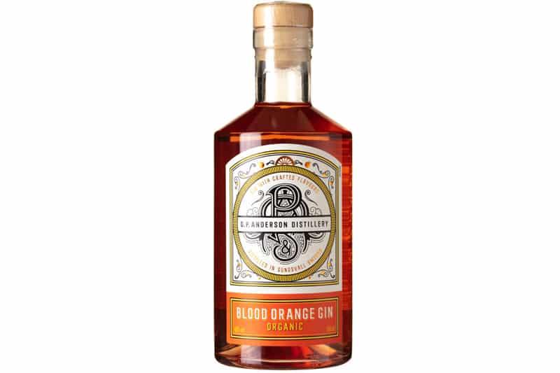 passer til O.P. Anderson Distillery Organic Blood Orange Gin