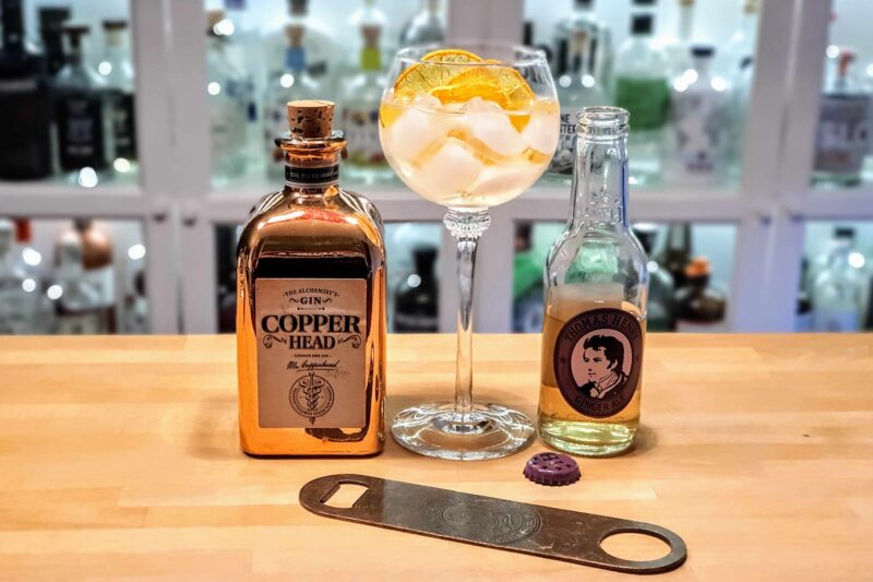Copperhead Gin med Thomas Henry Ginger Ale