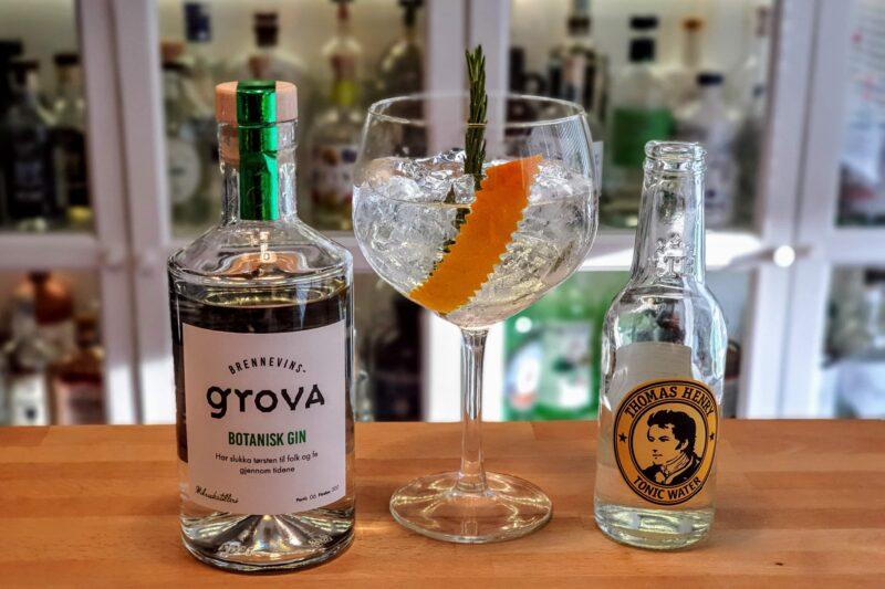 Gin & Tonic med Brennevinsgrova Botanisk Gin