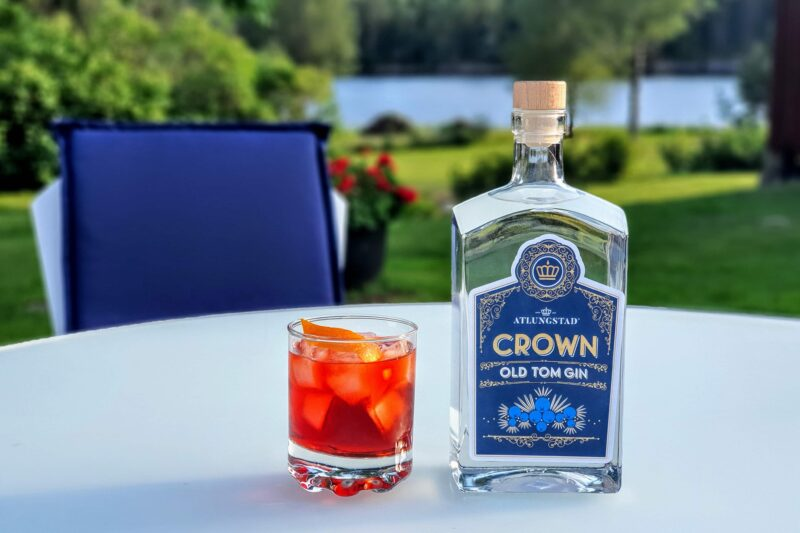 Negroni med Atlungstad Crown Old Tom Gin