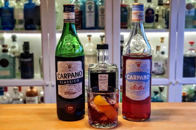 Negroni med Blue Velvet Violet Gin