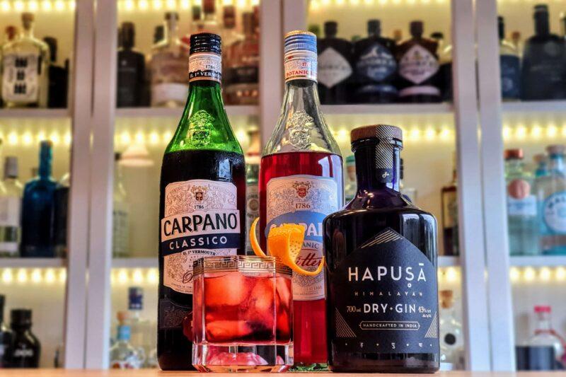 Negroni med Hapusa Himalayan Dry Gin