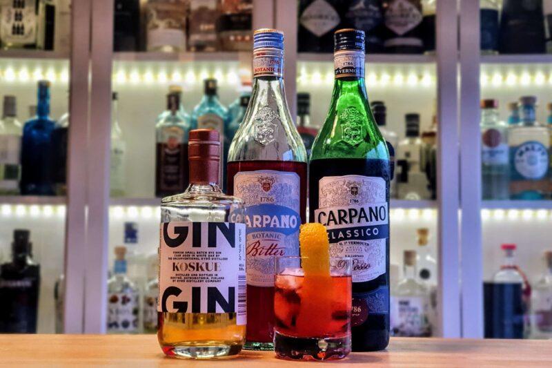 Negroni med Kyrö (Koskue) Dark Gin