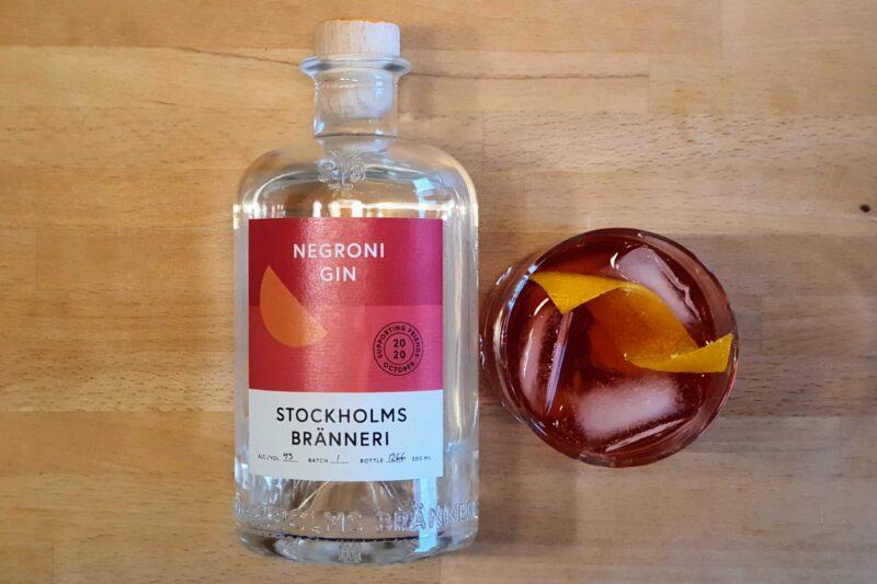 Negroni med Stockholms Brenneri Negroni Gin
