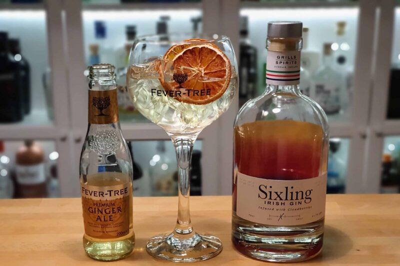 Sixling Irish Gin med ginger ale