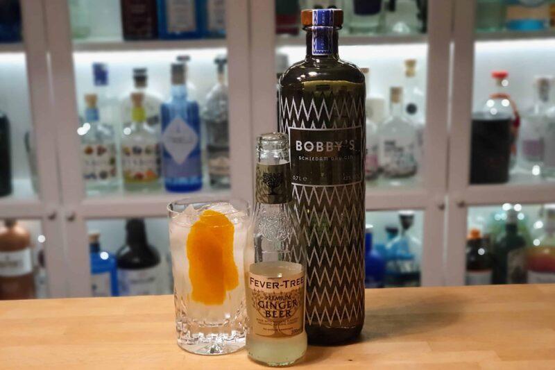 Bobbys Dry Gin med ingefærøl